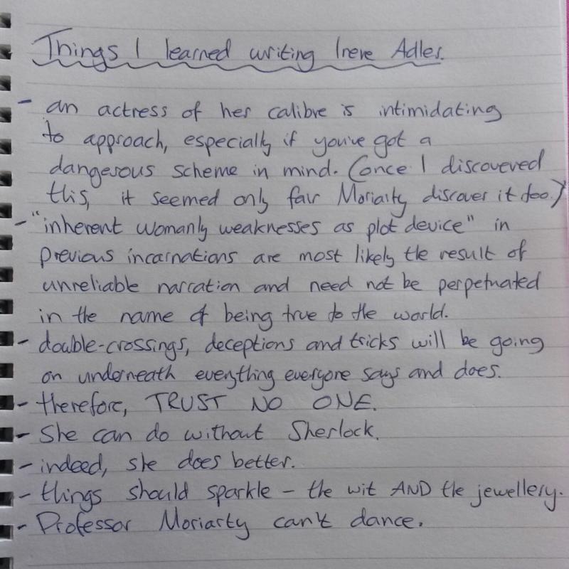Writing Irene Adler by Rose Biggin